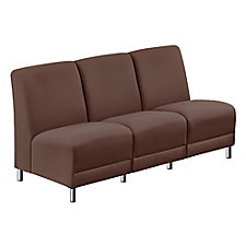 "Leather Armless Sofa in Leather - 64.5""W, CH51555"