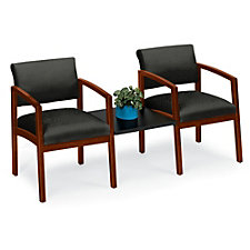 Lenox Designer Upholstery Two Chairs with Center Connecting Table, CH03454