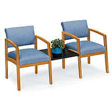 Lenox Two Chairs with Center Table in Designer Upholstery , CH52304