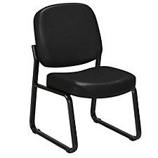 Vinyl Armless Guest/Reception Chair, CH50439