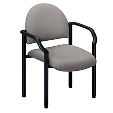 Guest Chair with Arms in Designer Fabric or Polyurethane, CH01597