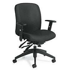 TruForm Fabric Medium Back Computer Chair, CH51713