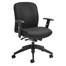 TruForm Fabric Medium Back Computer Chair, CH51714