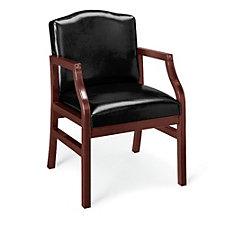 Vinyl Traditional Guest Chair with Arms, CH01684
