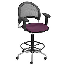 Moon Drafting Stool with Arms, CH03881