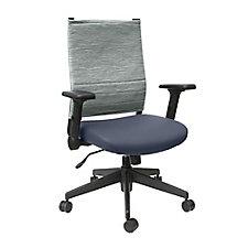 Cirrus Flip Arm Fabric Back Task Chair with Polyurethane Seat, CH51916