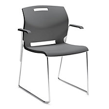 Popcorn Sled Base Stack Chair with Arms, CH51715