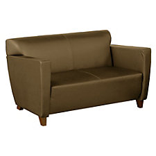 Contemporary Leather Loveseat, CH04512