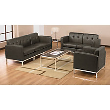 Wall Street Faux Leather Reception Set, CH03536