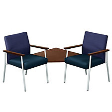 Uptown Two Guest Chair and Corner Table Set in Premium Upholstery, CH04886