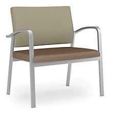 Newport Fabric Back Vinyl Seat Bariatric Guest Chair, CH51258