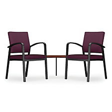 Newport Solid Fabric Double Guest Chair with Corner Table, CH51263