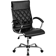 Whittier Bonded Leather High Back Quilted Task Chair, CH51280