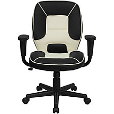 Elmwood Vinyl Two-Tone Mid-Back Task Chair, CH51288