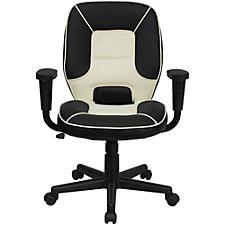 Elmwood Vinyl Two-Tone Mid-Back Task Chair, CH51288
