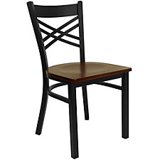 Jackson Wood Seat Cross Back Cafe Chair , CH51480