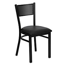 Jackson Vinyl Seat Metal Mesh Back Cafe Chair , CH51481