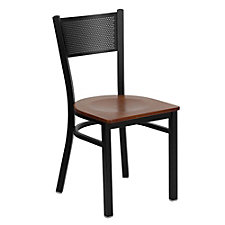 Jackson Wood Seat Metal Mesh Back Cafe Chair , CH51482