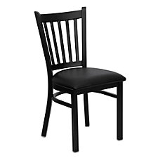 Jackson Wood Seat Vertical Slat Back Cafe Chair , CH51487
