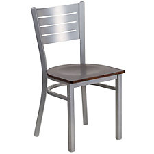 Jackson Vinyl Seat Metal Slat Back Cafe Chair , CH51502
