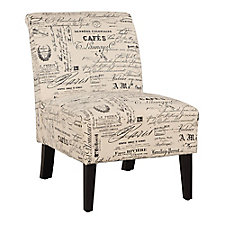 Lily Armless Accent Chair in Fabric, CH51815