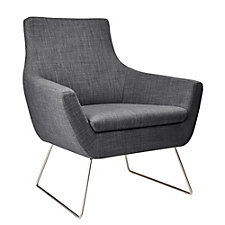 Kendrick Fabric Guest Chair with Steel Legs, CH51614