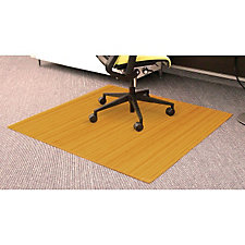 "Standard Bamboo Chair Mat, 48"" x 52"" x 5mm Thick, CH04609"