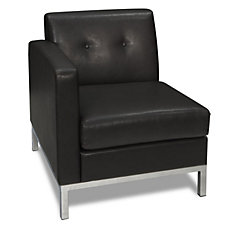 Wall Street Faux Leather Left Single Arm Chair, CH03345