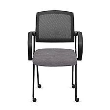 Fabric Nesting Chairs with Arms and Mesh Back - Set of Six, CH52002