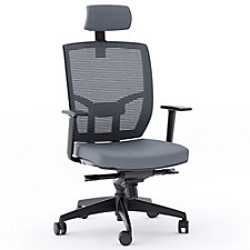 TC-223 Mesh Back Fabric Seat Task Chair with Headrest, CH51619