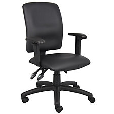 Faux Leather Task Chair with Adjustable Arms, CH51878