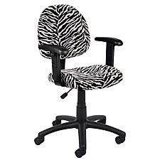 Zebra Stripe Microfiber Task Chair, CH04820