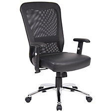 Mesh Back with Faux Leather Seat Task Chair, CH51876
