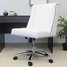 Velvet Armless Task Chair with Nail-head Trim, CH51910