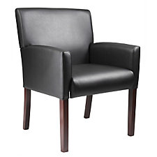 Black Vinyl Reception Arm Chair, CH02913