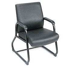 Black Vinyl Heavy-Duty Guest Chair, CH00163