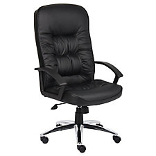 Burke High Back Bonded Leather Executive Chair with Chrome Base, CH04813