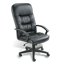 Burke High Back Bonded Leather Executive Chair with Knee Tilt, CH00165