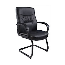 Austen Bonded Leather Cantilever Base Side Chair, CH03215