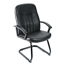 Shephard Bonded Leather Cantilever Base Guest Chair, CH00191