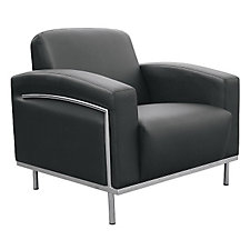 Black Vinyl Reception Chair, CH03717