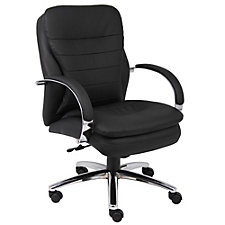 Belgrano Faux Leather Modern Mid Back Executive Chair, CH03712