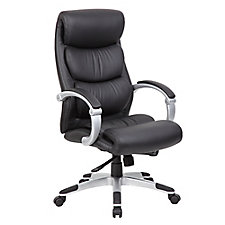 Plata Faux Leather Hinged Arm Executive Chair, CH50911