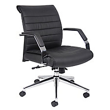 Florence Faux Leather Mid Back Computer Chair, CH50914