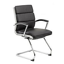 Contemporary Vinyl Guest Chair, CH51687