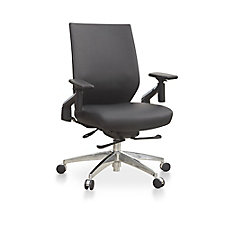 Swing-Back Arm Faux Leather Task Chair, CH51923