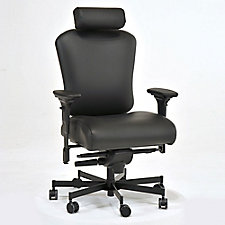 Genuine Leather 24/7 Intensive Use Ergonomic Chair with Headrest, CH50571