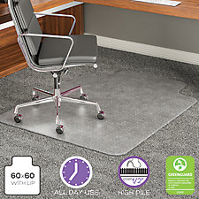 "Big and Tall Chair Mat With Lip 45""W x 53""D , CH52042"