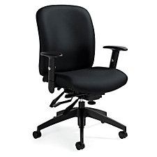 TruForm Fabric Medium Back Heavy Duty Ergonomic Task Chair, CH51722