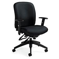 TruForm Fabric Medium Back Heavy Duty Ergonomic Task Chair, CH51722